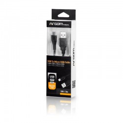 Cable tipo V8 USB Argom 3m